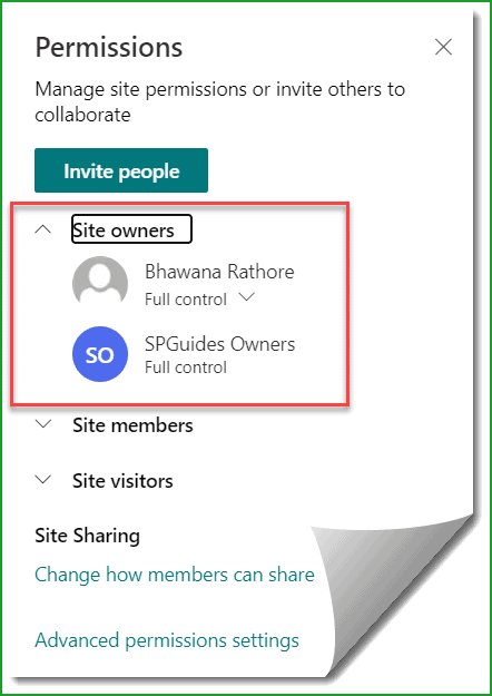 find Office 365 group connected site owner