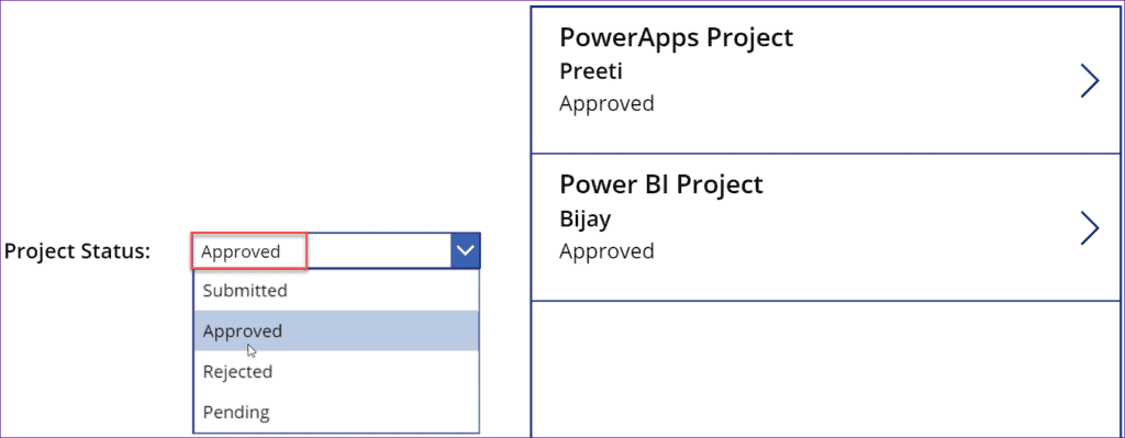 how to filter Powerapps gallery by Dropdown