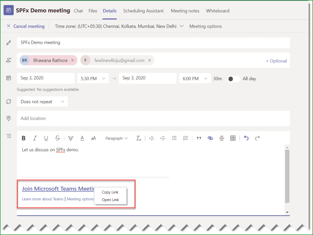 how to invite someone to microsoft teams meeting