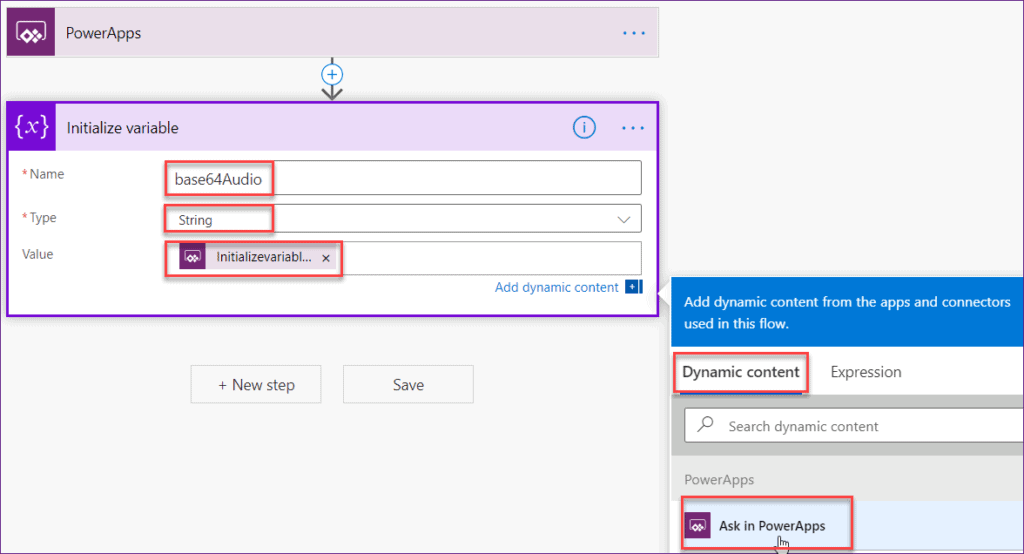 how to save Powerapps audio record in SharePoint Online