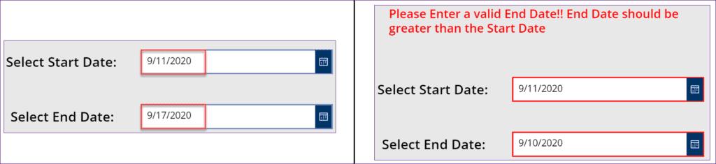 powerapps date picker limit