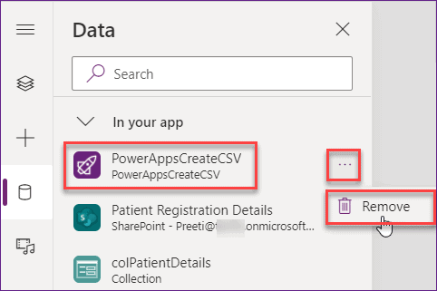 powerapps export gallery data to excel