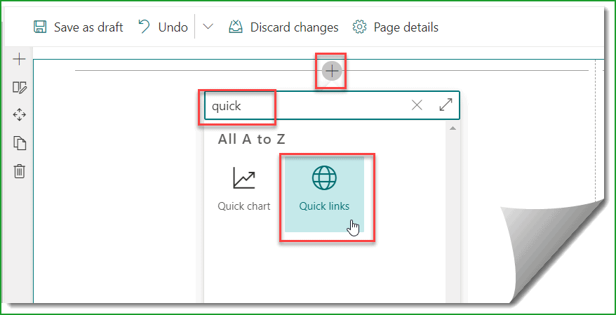 quick links web part SharePoint