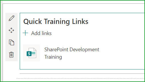 quick links web part in sharepoint