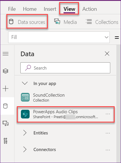 save powerapps microphone audio record to sharepoint online