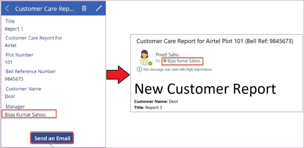 send HTML email in PowerApps