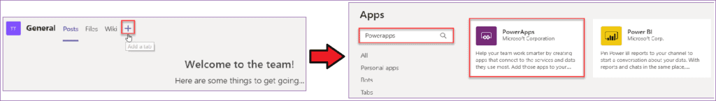 using powerapps with microsoft teams