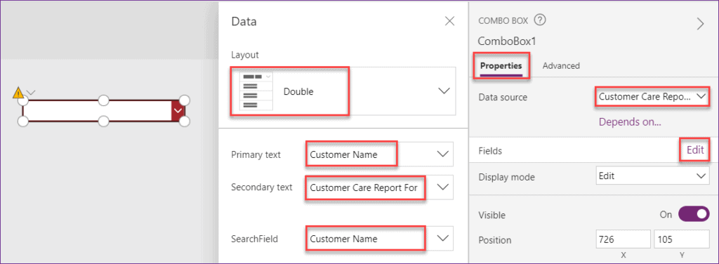 Add Items in PowerApps Combobox control