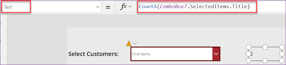 Combobox control Selected items in PowerApps