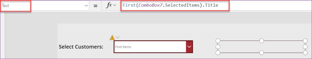 PowerApps Combobox Selecteditems