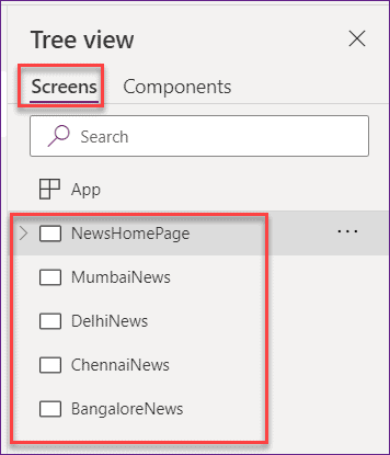 PowerApps Navigate between Screens