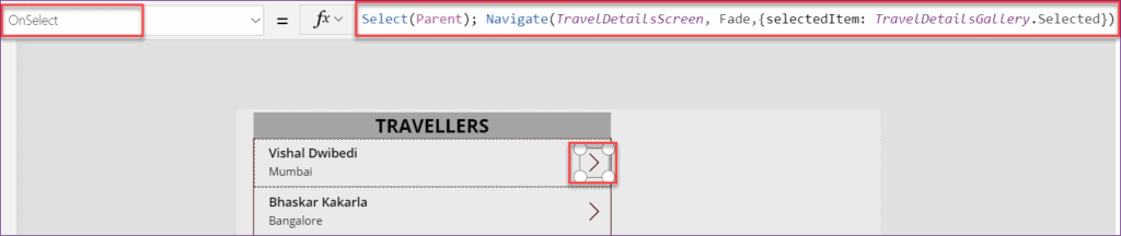 PowerApps Pass Object to a Different Screen