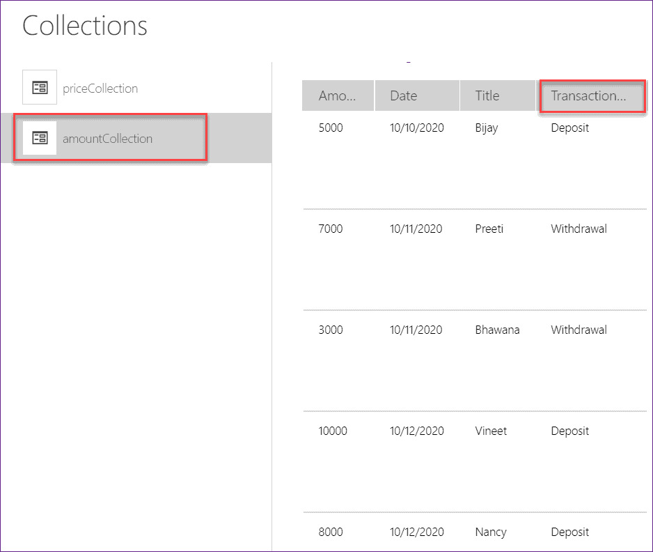 PowerApps Sum of a Collection with conditions