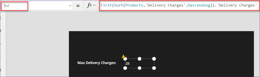 PowerApps find max value