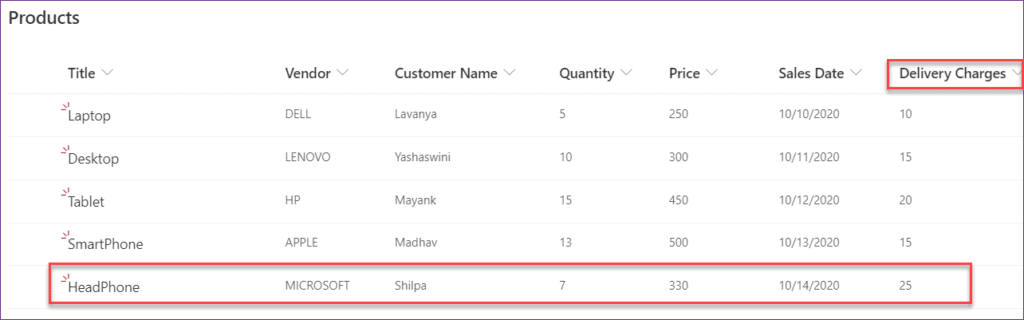 PowerApps find max value in column