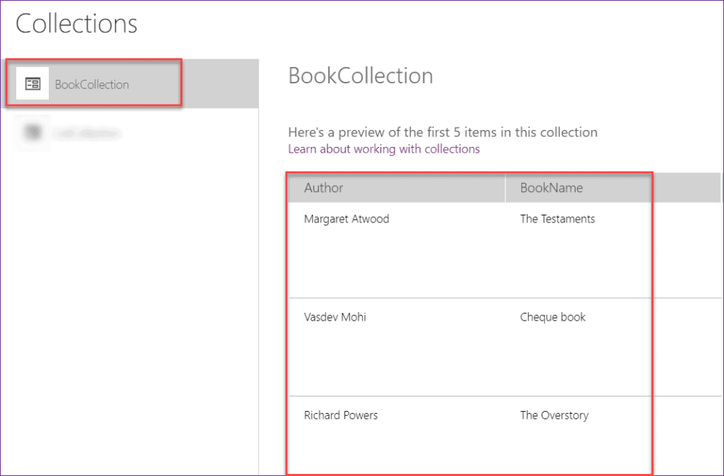 Create PowerApps Collection on start
