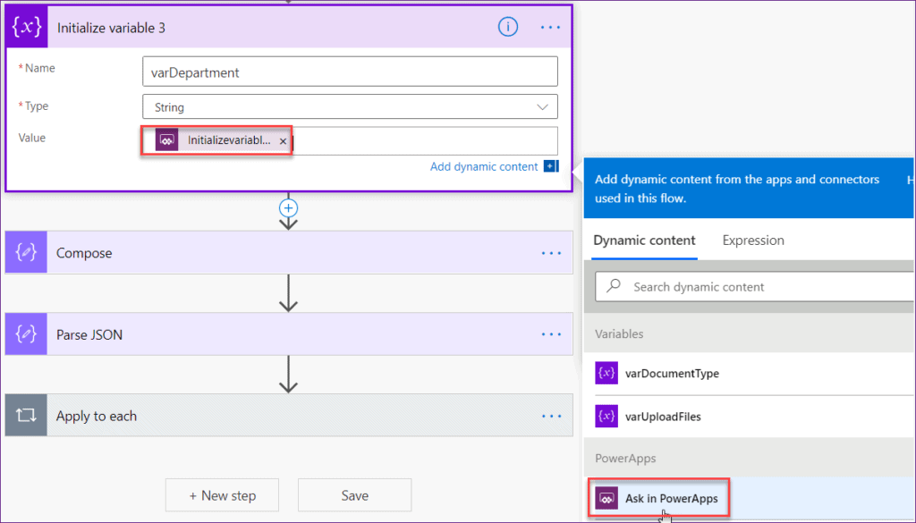 Powerapps upload files to SharePoint Document library using flow
