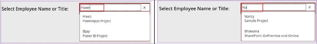 Search fields in Powerapps Combobox control