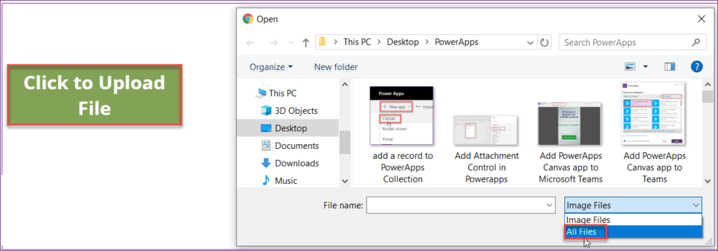 Upload Powerapps documents to SharePoint document library