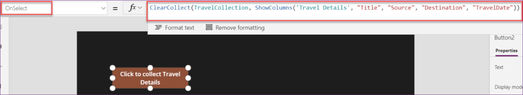 delete unnecessary columns from PowerApps Collections