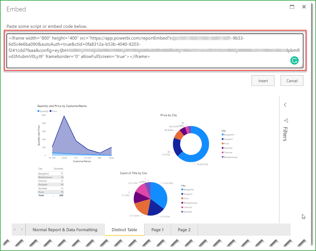 publish power bi report to sharepoint online