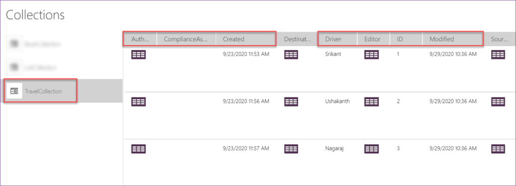 how to remove unwanted columns from PowerApps Collections