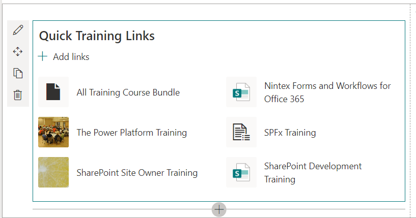 quick links web part sharepoint online