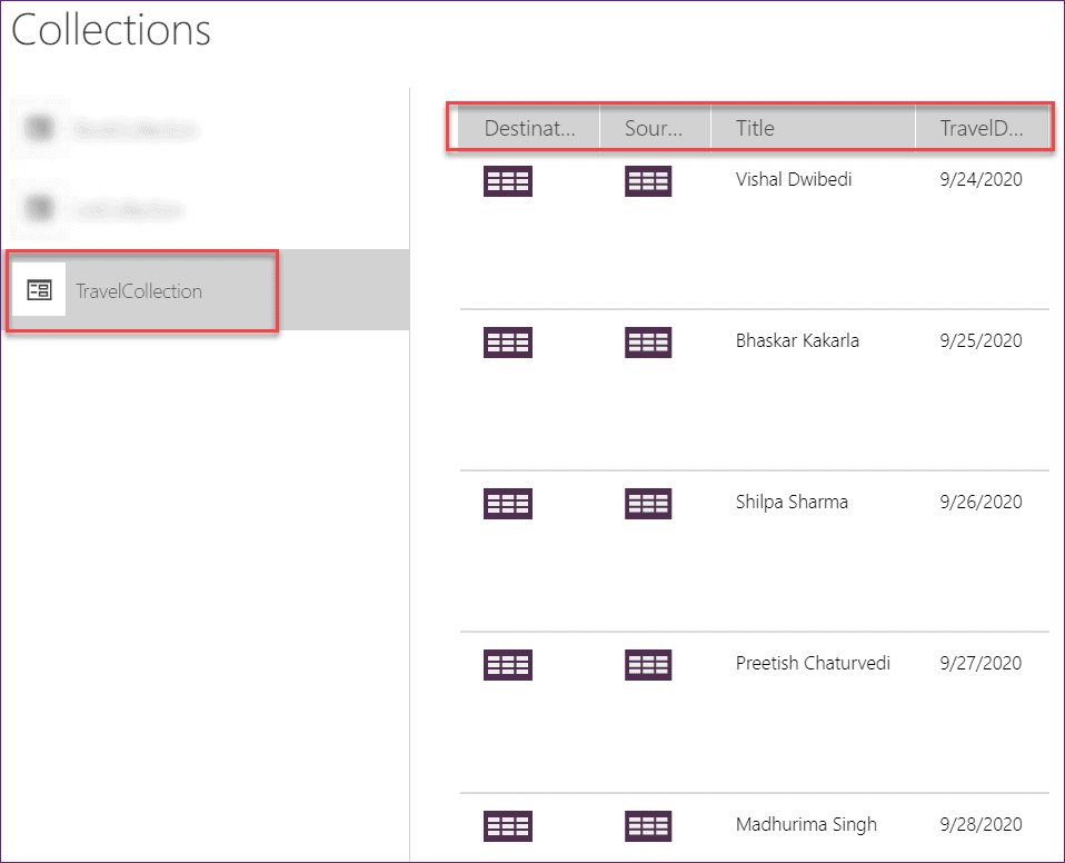 unable to remove column from PowerApps Collections