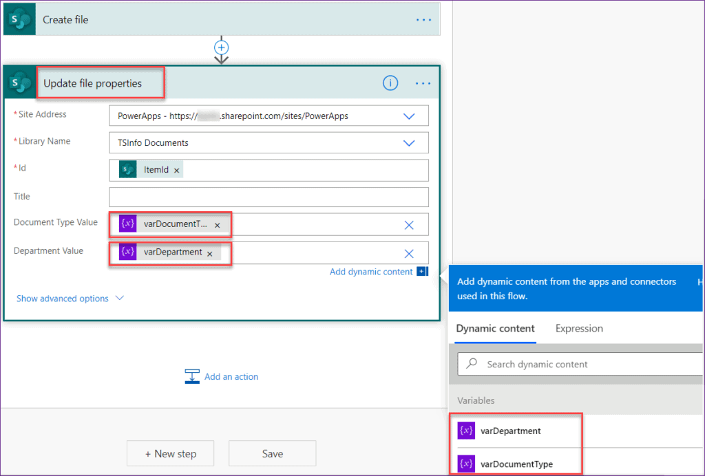 upload documents to SharePoint library using Powerapps