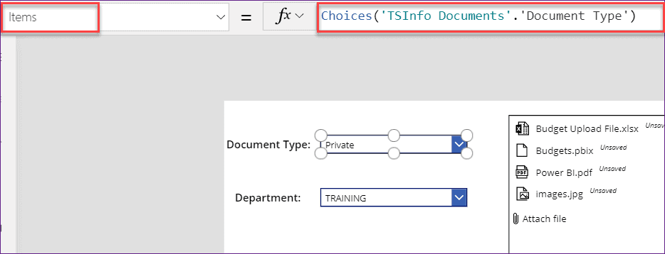 upload multiple files in SharePoint library using powerapps flow