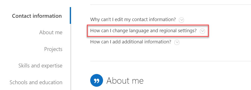 change personal time zone in sharepoint
