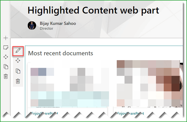 highlighted content web part