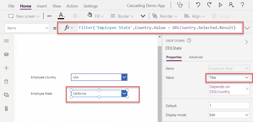 How to Bind distinct values drop down in Power Apps
