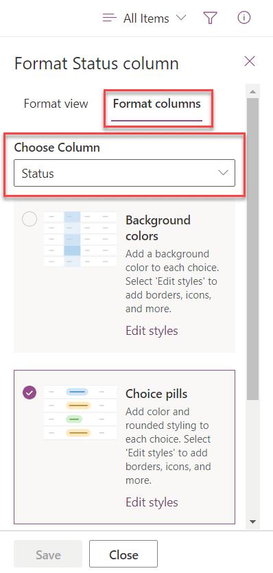 Microsoft Lists Column Formatting