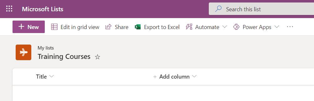 Microsoft Lists Formatting