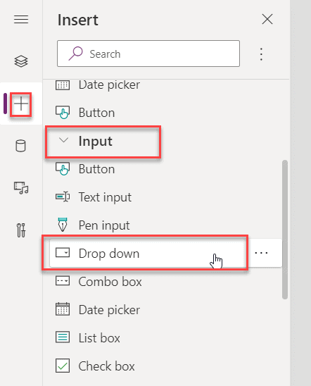 Power Apps add control to screen