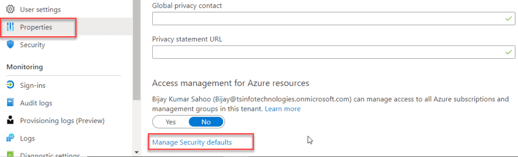 microsoft has enabled security defaults office 365