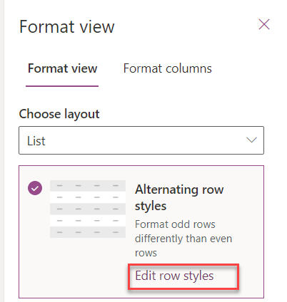 microsoft lists format view