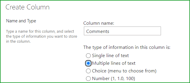 Add comments to classic SharePoint Online List