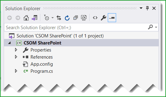 create console application for csom sharepoint
