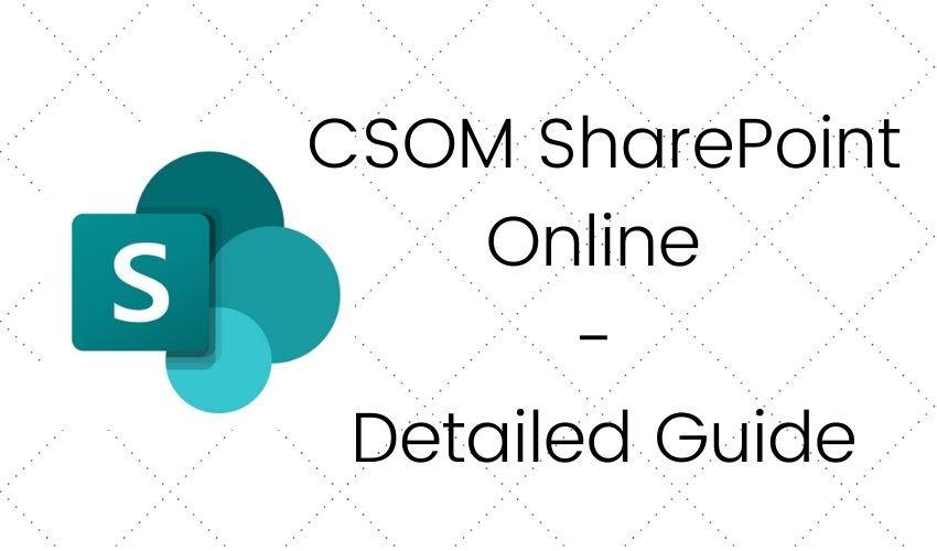 csom sharepoint online