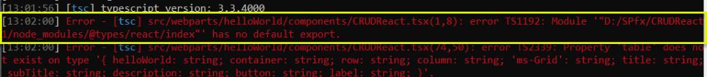 error TS1192: Module has no default export