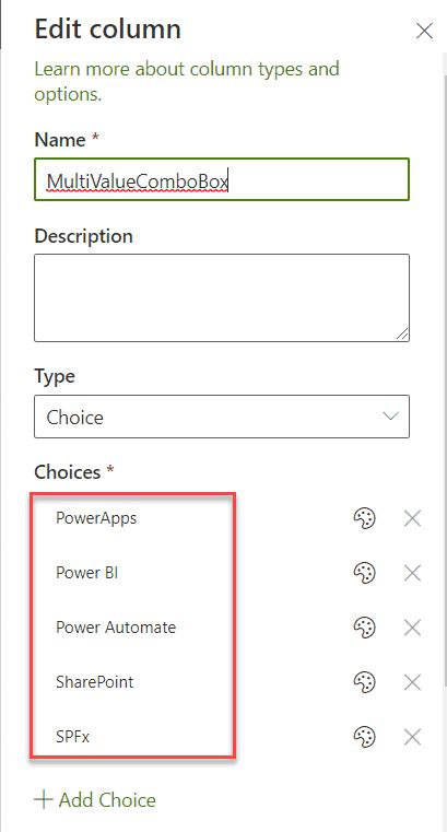 office-ui-fabric-react combobox options