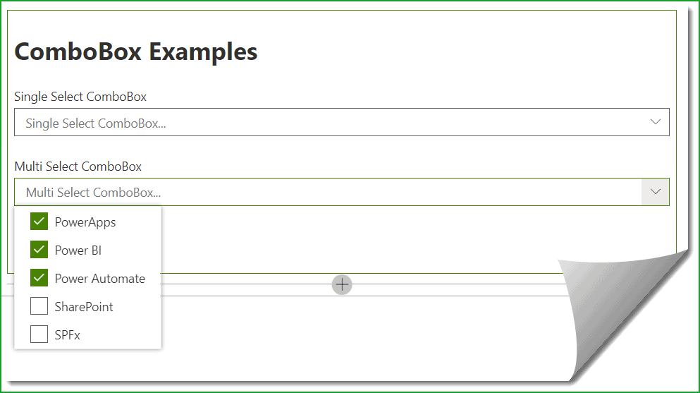 spfx combobox example