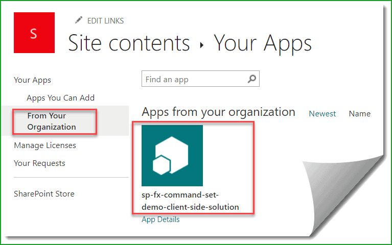 SharePoint online app catalog