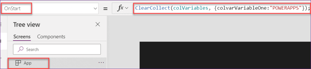 Powerapps forall set variable