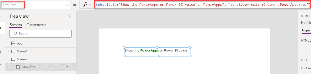 Powerapps if statement contains text