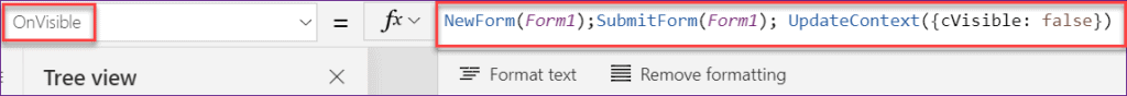 Powerapps visible if statement