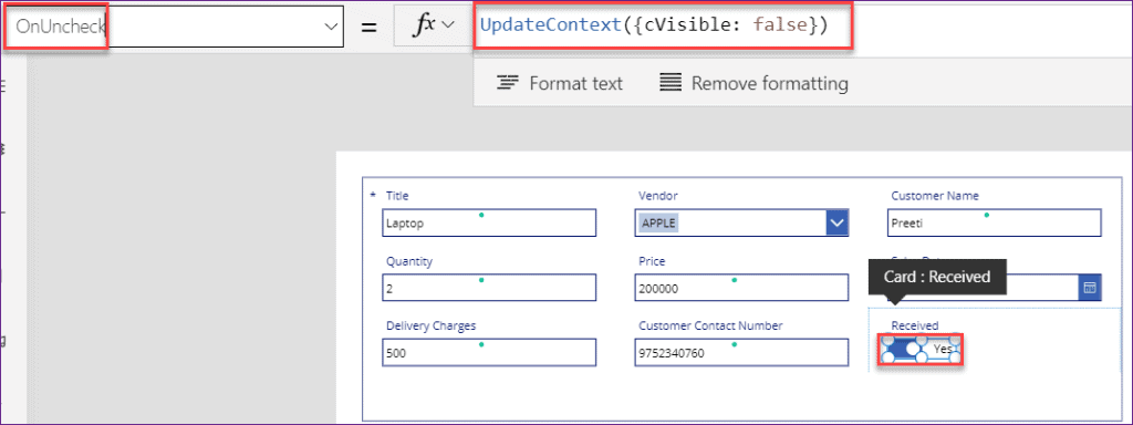Powerapps visible in if statements