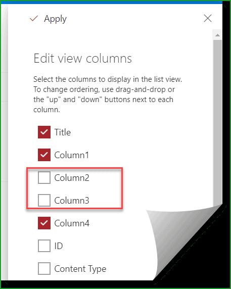 change column order sharepoint list